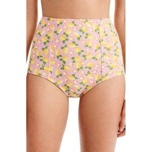 J. Crew Lemon High Waist Bikini Bottom